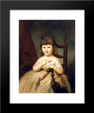 Mary O'Donnell: Modern Black Framed Art Print by Charles Willson Peale