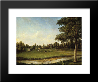 Millbank: Modern Black Framed Art Print by Charles Willson Peale