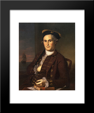 Mordecai Gist: Modern Black Framed Art Print by Charles Willson Peale