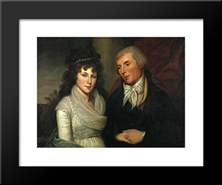 Mr. And Mrs. Alexander Robinson: Modern Black Framed Art Print by Charles Willson Peale