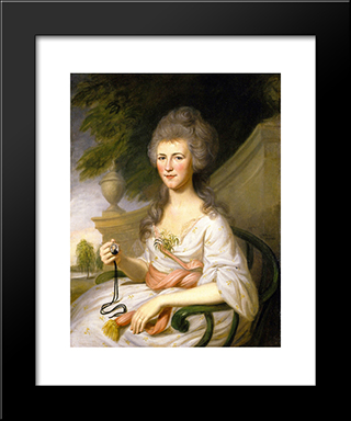 Mrs. John O'Donnell (Sarah Chew Elliott): Modern Black Framed Art Print by Charles Willson Peale