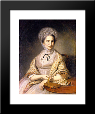 Mrs. Thomas Ellott (Mary Chase): Modern Black Framed Art Print by Charles Willson Peale