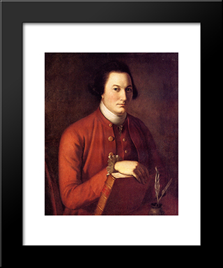Nathaniel Ramsay: Modern Black Framed Art Print by Charles Willson Peale