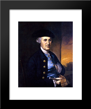 Portrait Of A Maryland Gentleman: Modern Black Framed Art Print by Charles Willson Peale