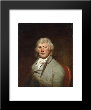 Portrait Of James W. Depeyster: Modern Black Framed Art Print by Charles Willson Peale