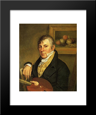 Portrait Of Raphaelle Peale: Modern Black Framed Art Print by Charles Willson Peale