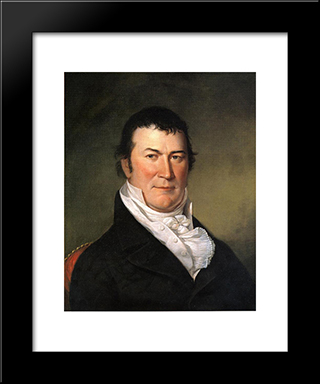 Portrait Of William Harris Crawford: Modern Black Framed Art Print by Charles Willson Peale