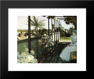 Afternoon In Nantucket: Modern Black Framed Art Print by Childe Hassam