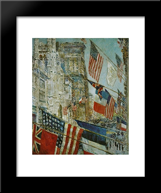 Allies Day, May: Modern Black Framed Art Print by Childe Hassam