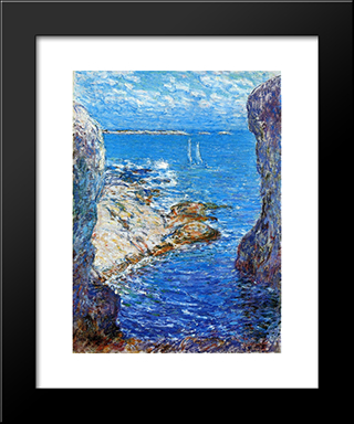 An Isles Of Shoals Day: Modern Black Framed Art Print by Childe Hassam
