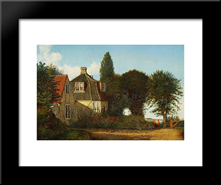 A Mansion Near Oresund: Modern Black Framed Art Print by Christen Kobke