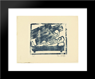 Death: Modern Black Framed Art Print by Christian Rohlfs