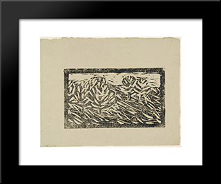 Landscape (Polling): Modern Black Framed Art Print by Christian Rohlfs