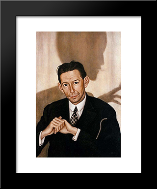 Dr. Haustein: Modern Black Framed Art Print by Christian Schad