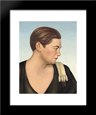 Eva Von Arnheim: Modern Black Framed Art Print by Christian Schad