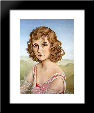 Fraulein Mulino Von Kluck: Modern Black Framed Art Print by Christian Schad