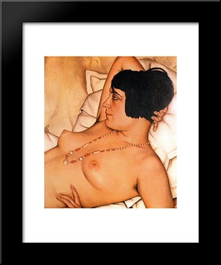 Halbakt: Modern Black Framed Art Print by Christian Schad