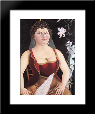 Imperial Countess Triangi - Taglioni: Modern Black Framed Art Print by Christian Schad