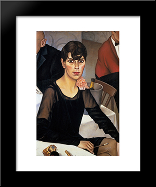 Sonja: Modern Black Framed Art Print by Christian Schad
