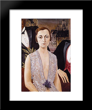 Unknown: Modern Black Framed Art Print by Christian Schad