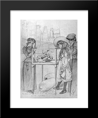 (La Bella Napoli) Oh The Poor Poor Dog: Modern Black Framed Art Print by Christian Wilhelm Allers