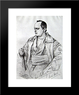 Actor Fred Billington: Modern Black Framed Art Print by Christian Wilhelm Allers