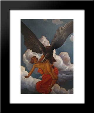 Ganymede: Modern Black Framed Art Print by Christian Wilhelm Allers