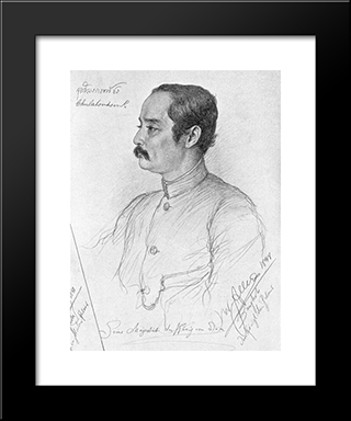 Portrait Of Phra Maha Chulalongkorn (Rama V.), King Of Siam: Modern Black Framed Art Print by Christian Wilhelm Allers