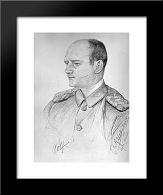 Portrait Of Wilhelm Solf: Modern Black Framed Art Print by Christian Wilhelm Allers