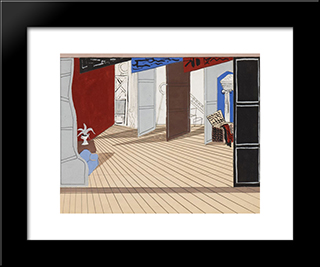 Design For The Cochrane Review: Modern Black Framed Art Print by Christopher Wood