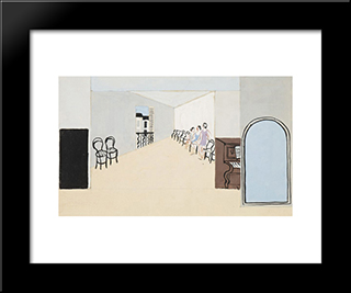 Stage Design For Diaghilev'S Ballet, Romeo And Juliet: Modern Black Framed Art Print by Christopher Wood