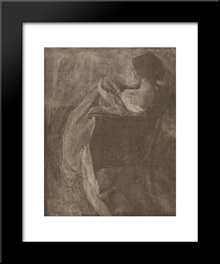 A Study In Gum: Modern Black Framed Art Print by Clarence White