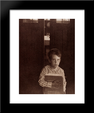 Boy With Camera Work: Modern Black Framed Art Print by Clarence White