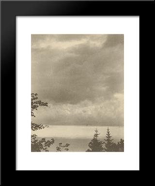 Clouds, Maine: Modern Black Framed Art Print by Clarence White