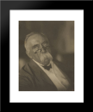 Director Of The Hagerstown National Bank: Modern Black Framed Art Print by Clarence White