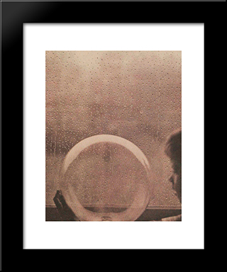 Drops Of Rain: Modern Black Framed Art Print by Clarence White