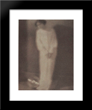 Experiment #27 (Collaboration With Stieglitz): Modern Black Framed Art Print by Clarence White