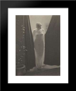 Figure Study: Modern Black Framed Art Print by Clarence White