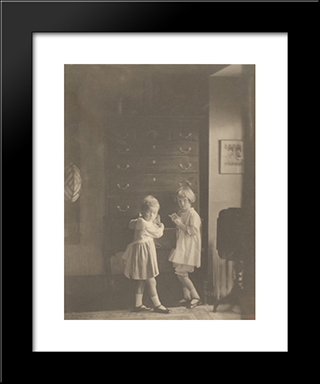 Jane And Mary Elizabeth Wilson: Modern Black Framed Art Print by Clarence White