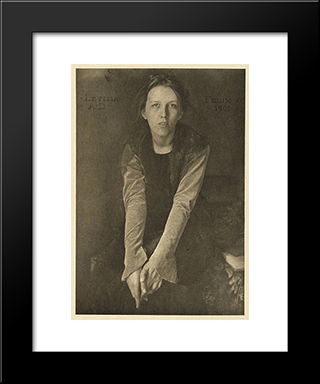 Letitia Felix: Modern Black Framed Art Print by Clarence White