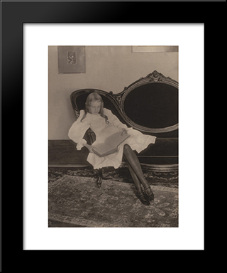 Miss Grace: Modern Black Framed Art Print by Clarence White
