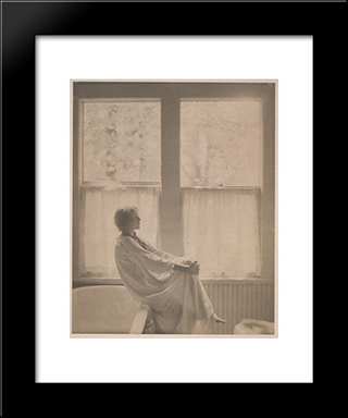 Morning: Modern Black Framed Art Print by Clarence White