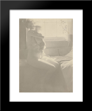 Mother And Child: Modern Black Framed Art Print by Clarence White