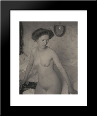 Nude: Modern Black Framed Art Print by Clarence White