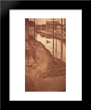 Telegraph Poles: Modern Black Framed Art Print by Clarence White