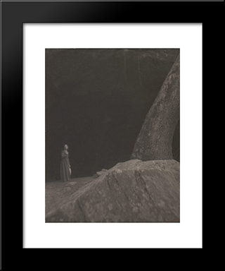 The Cave: Modern Black Framed Art Print by Clarence White
