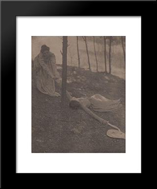 The Hillside: Modern Black Framed Art Print by Clarence White