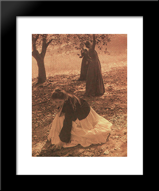 The Orchard: Modern Black Framed Art Print by Clarence White