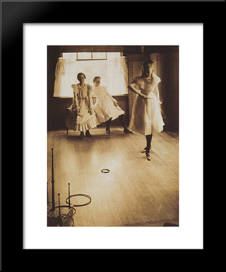 The Ring Toss: Modern Black Framed Art Print by Clarence White
