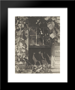 The Studio Window: Modern Black Framed Art Print by Clarence White